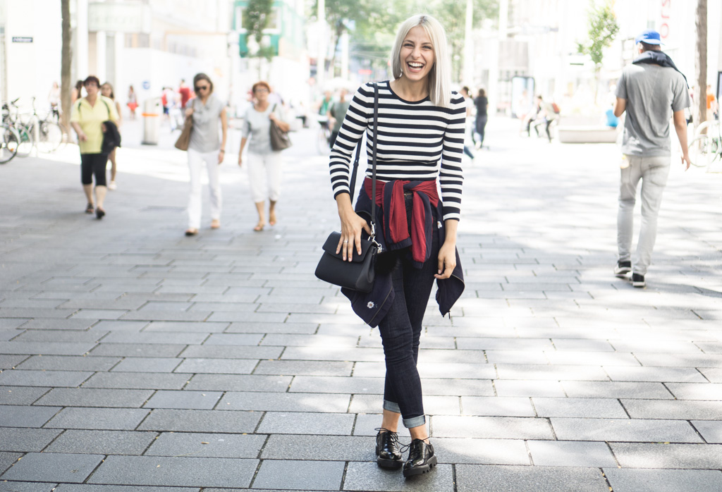 How To Wear: Chunky Heel Brogues, Stripes & Floral Patterns