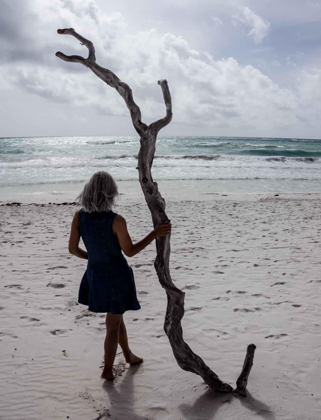 Lonely Beach Tulum Mexico