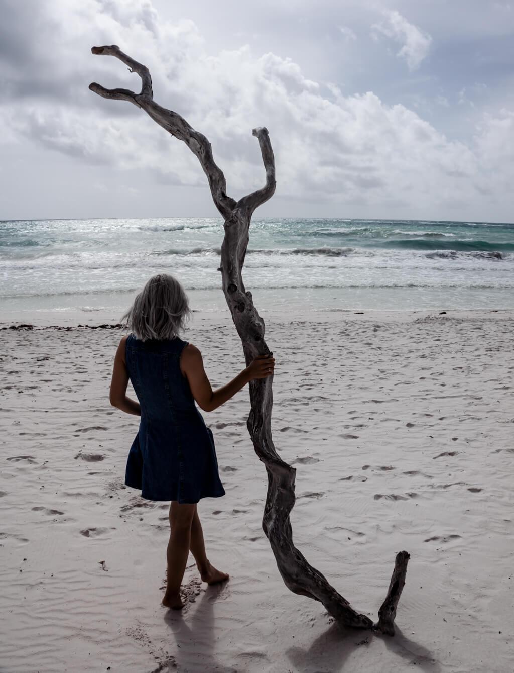 Lonely Beach Tulum Mexico