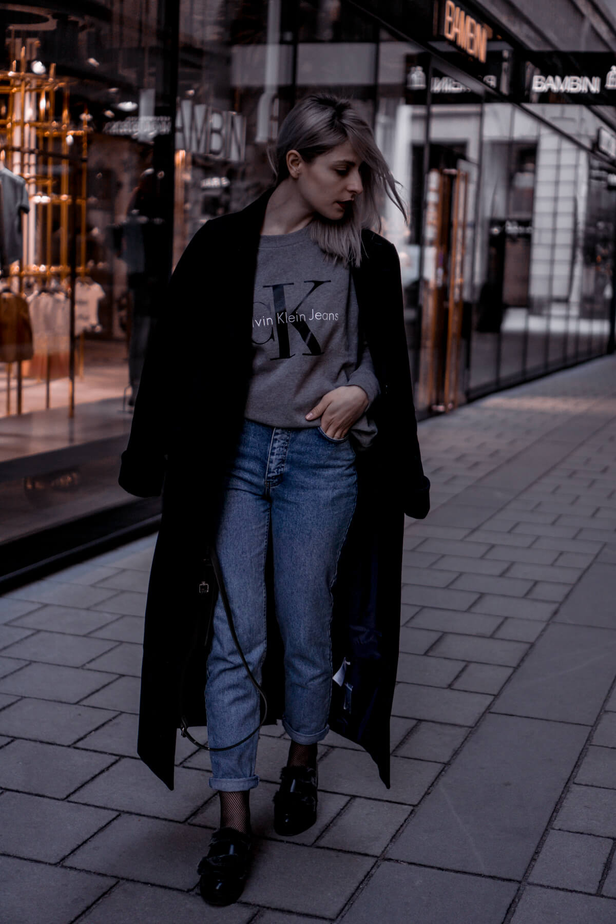 Levis Jeans, Edited Coat, Calvin Klein Logo Sweater
