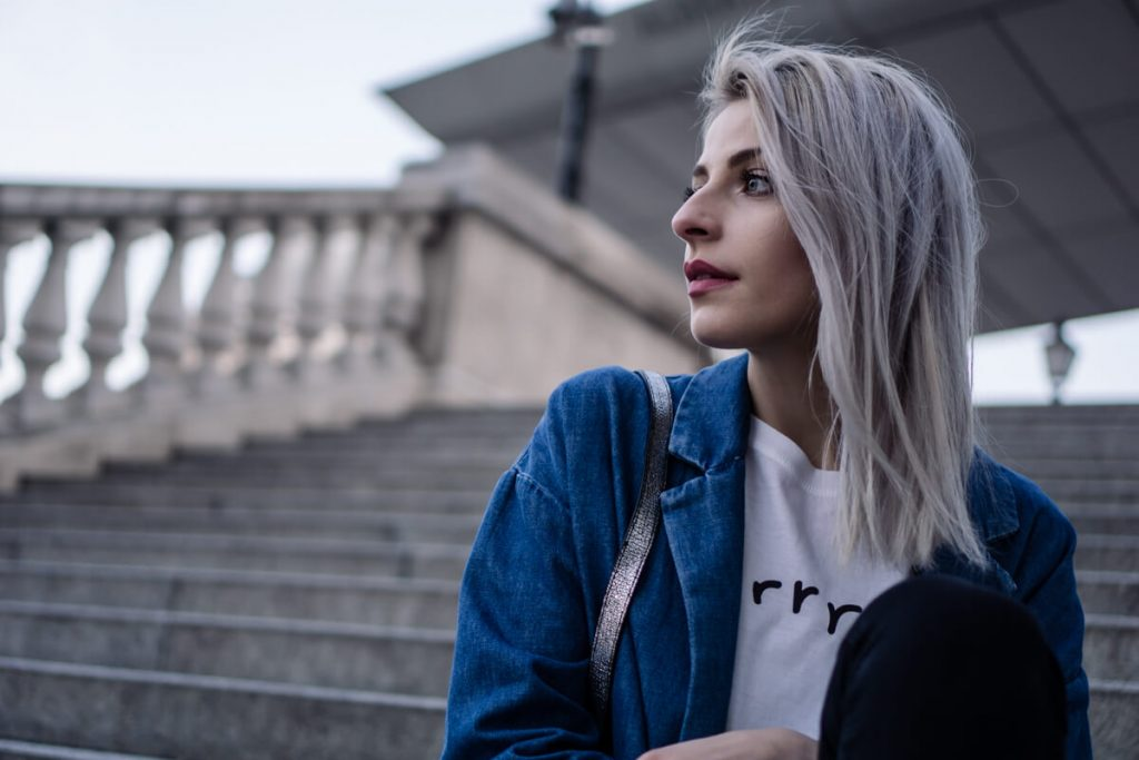 Silver Gray Hair Style by The Cosmopolitas