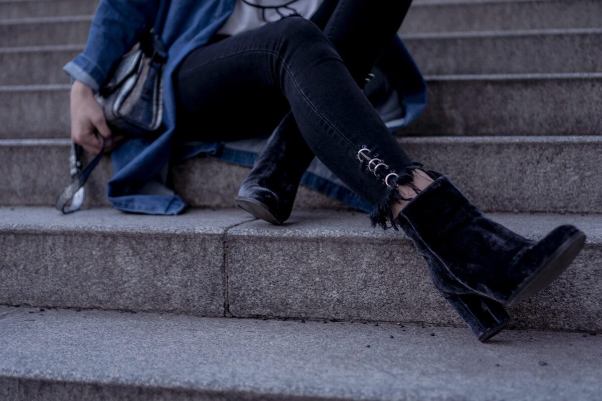 Blue Velvet Boots The Cosmopolitas