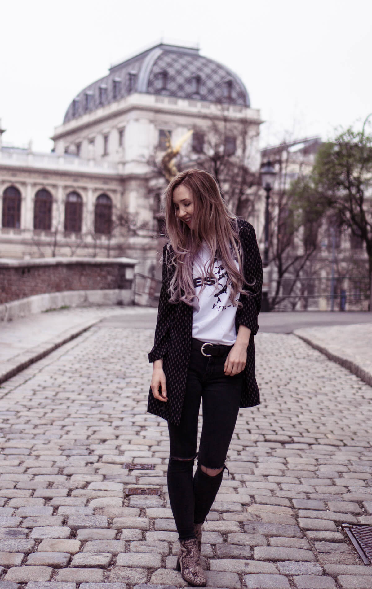 Grey Lilac Balayage