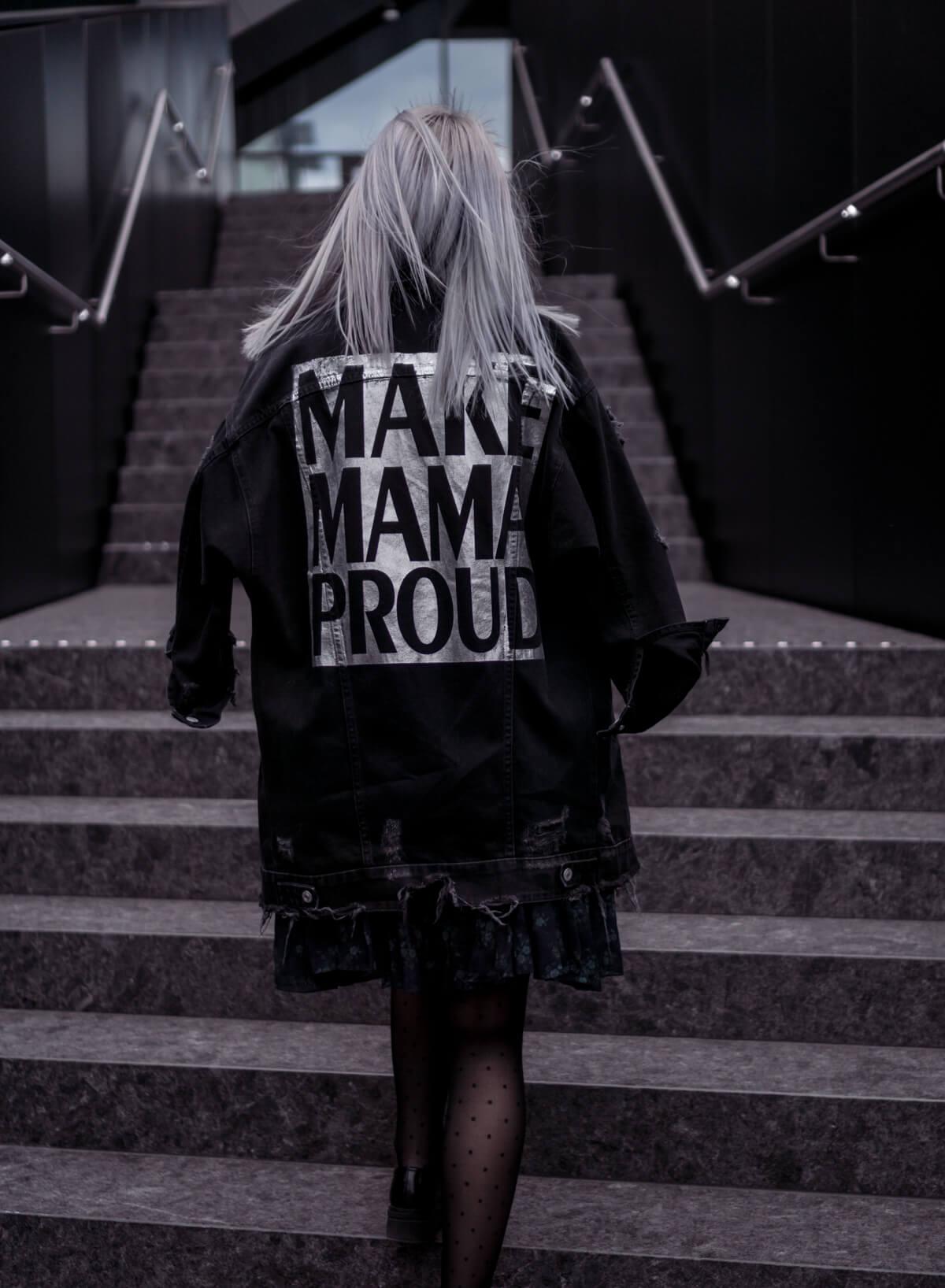 Make Mama Proud Black Denim Jacket