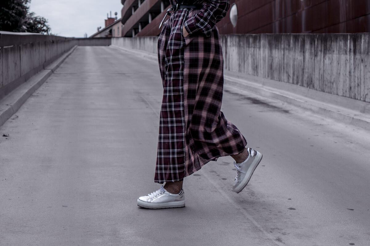Silver Plattform Sneakers Diesel