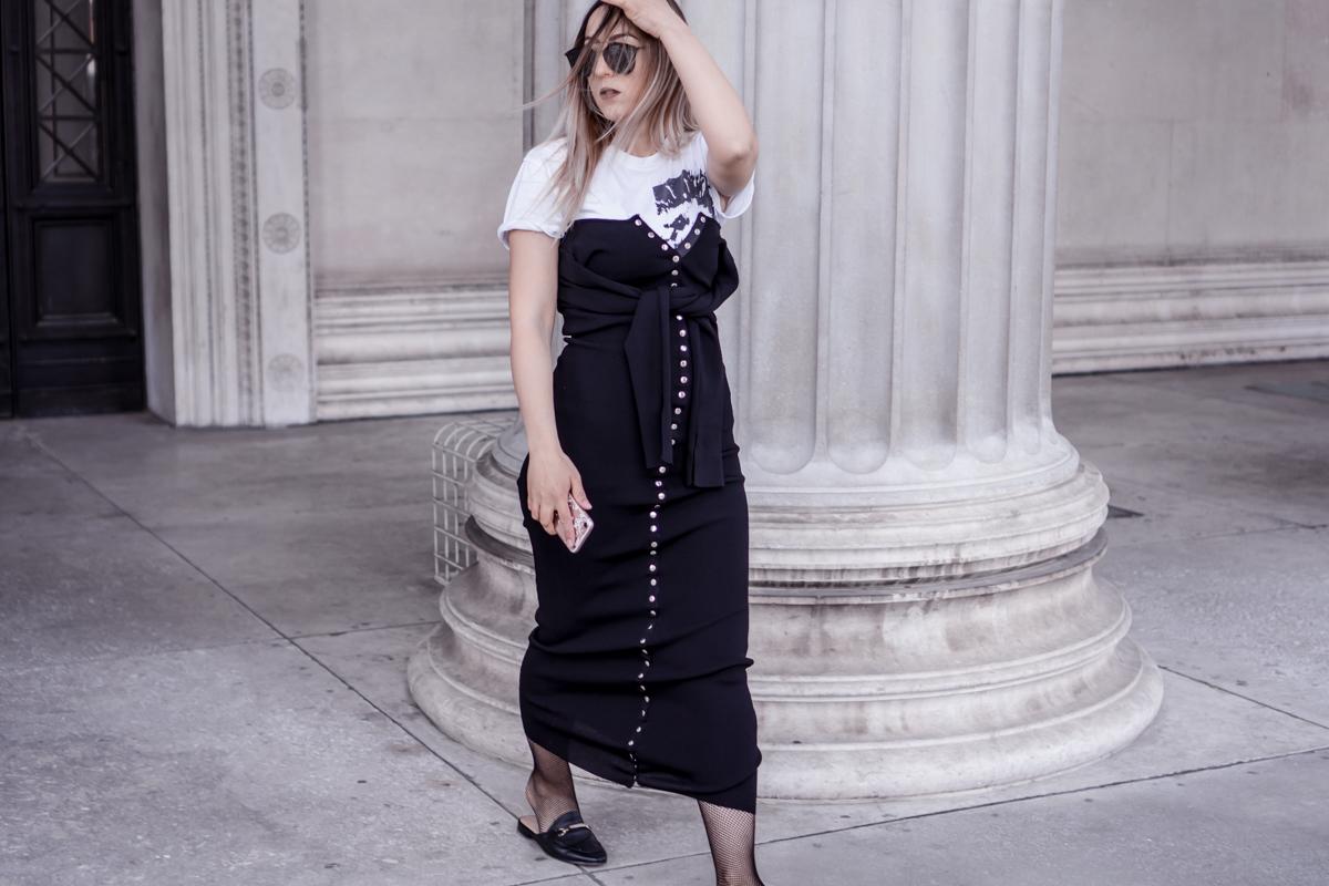 how to wear a shirt under a dress