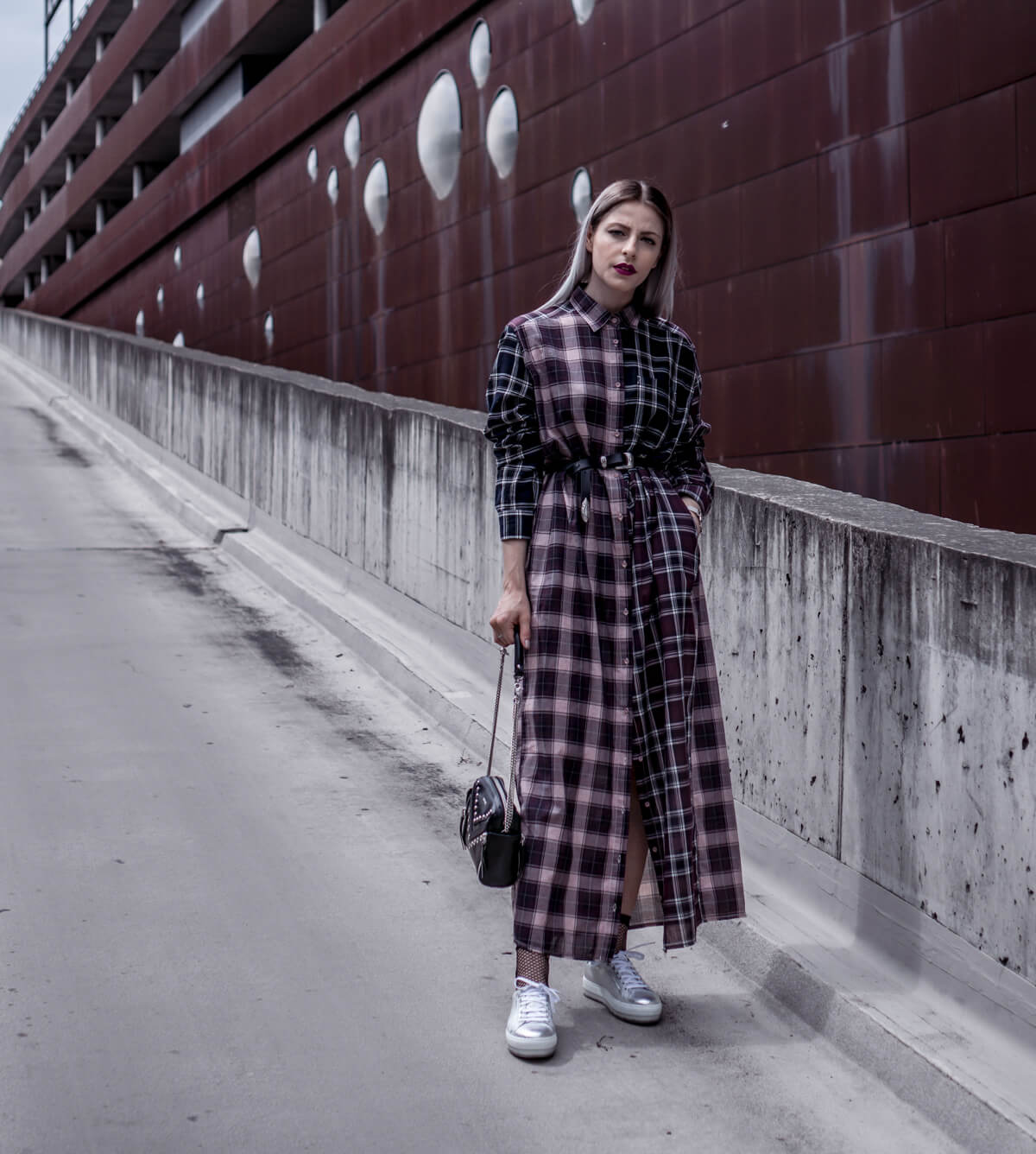 Check Maxi Dress Diesel FW 17