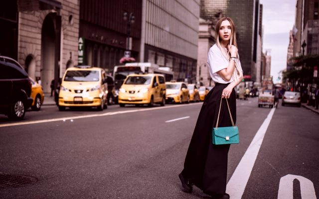 NYC OUTFIT NO 2: DIESEL TEE, BLACK MAXI SKIRT, SUPERGA SNEAKERS