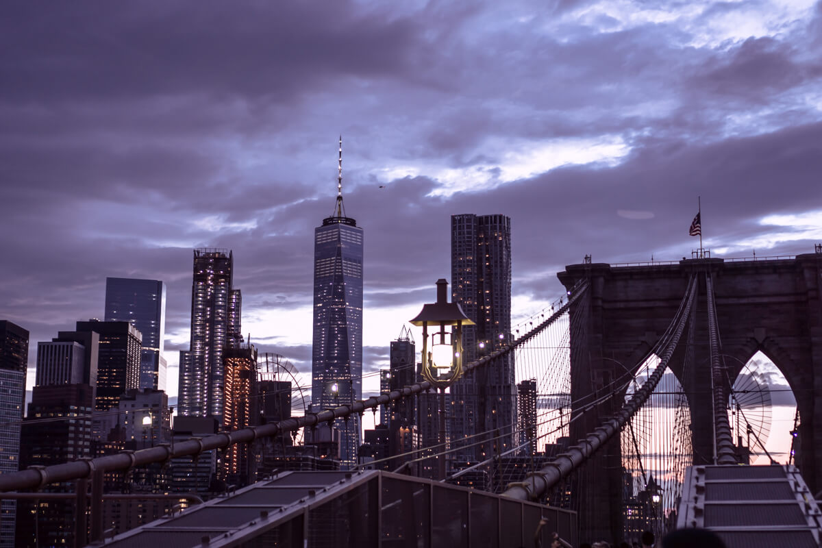 Brooklyn Bridge Evening Skyline