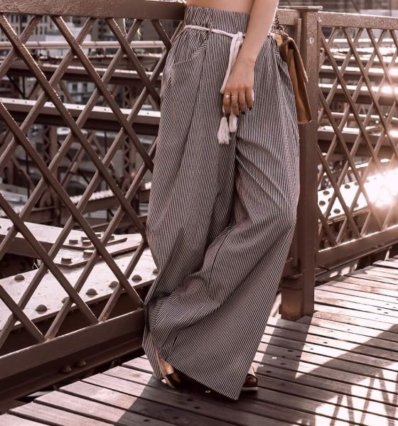 STREET STYLE IN NYC | WIDE-LEG PANTS