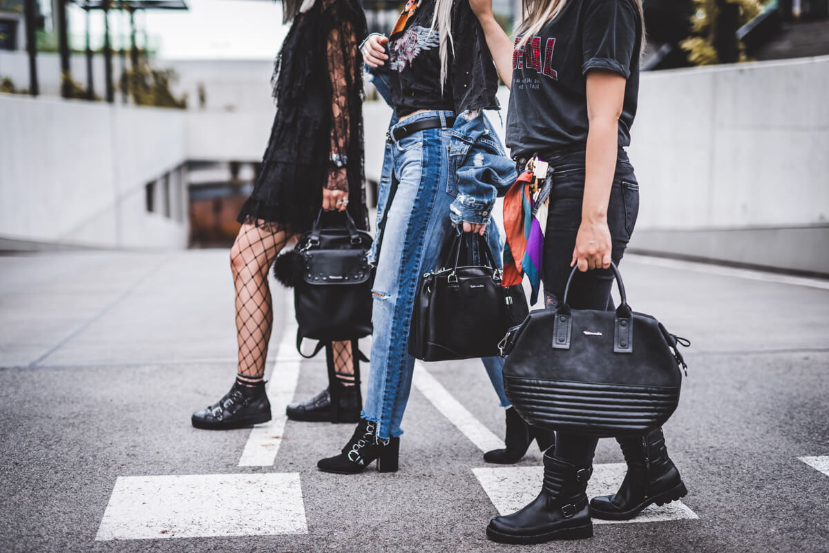 3 WAYS TO WEAR: BIKER-BOOTS IN ROCK-CHIC STYLE KOMBINIEREN