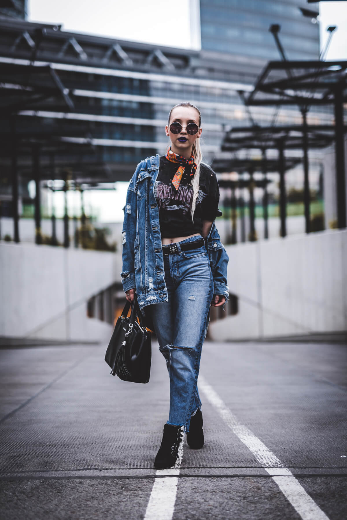 Denim and Biker Boots The Cosmopolitas