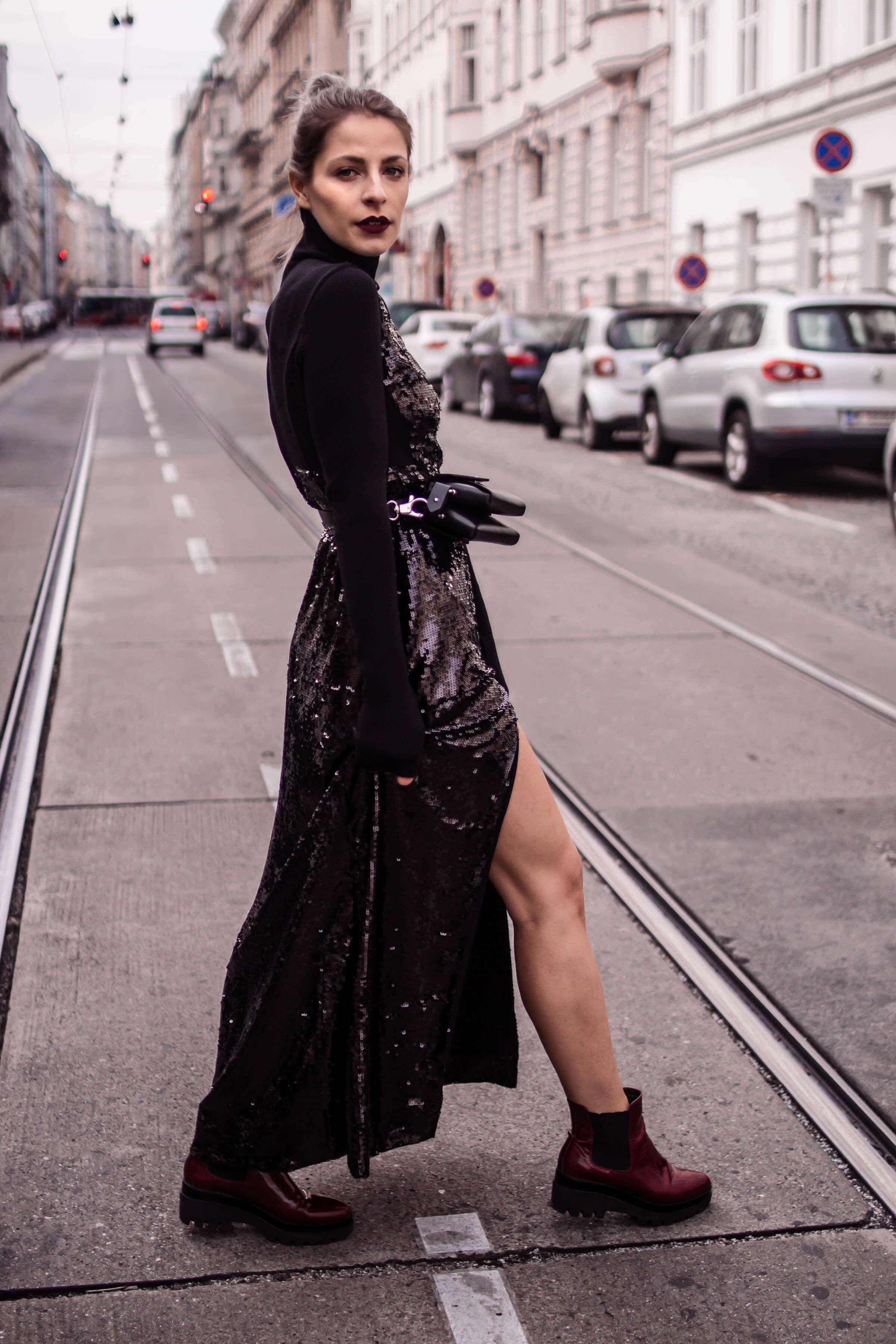 Paillettenkleider tagsüber tragen