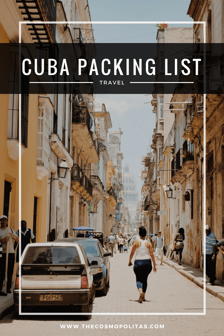 Ultimate Female Packing List for Cuba:What to bring to Cuba