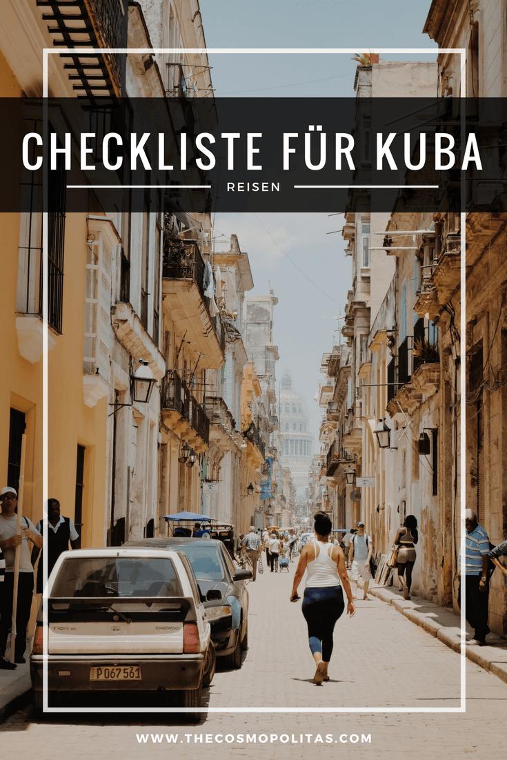 Packliste für Kuba