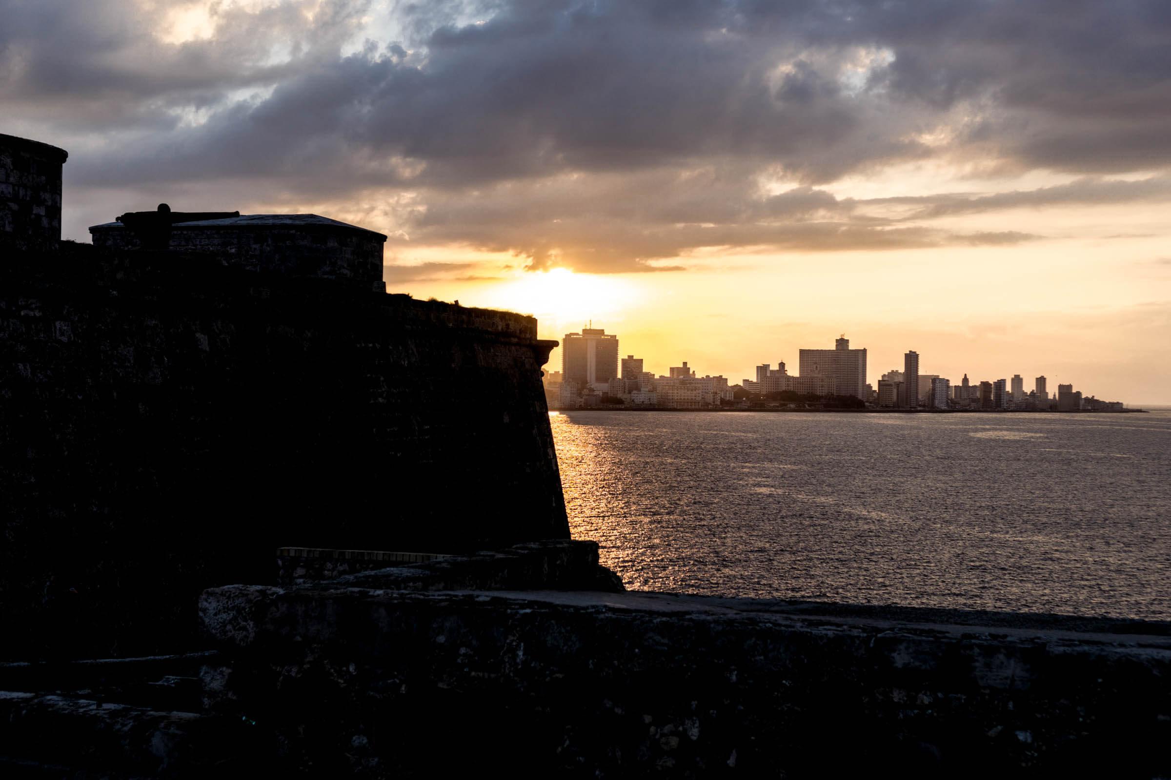 Aussicht auf Havanna Sonnenuntergang