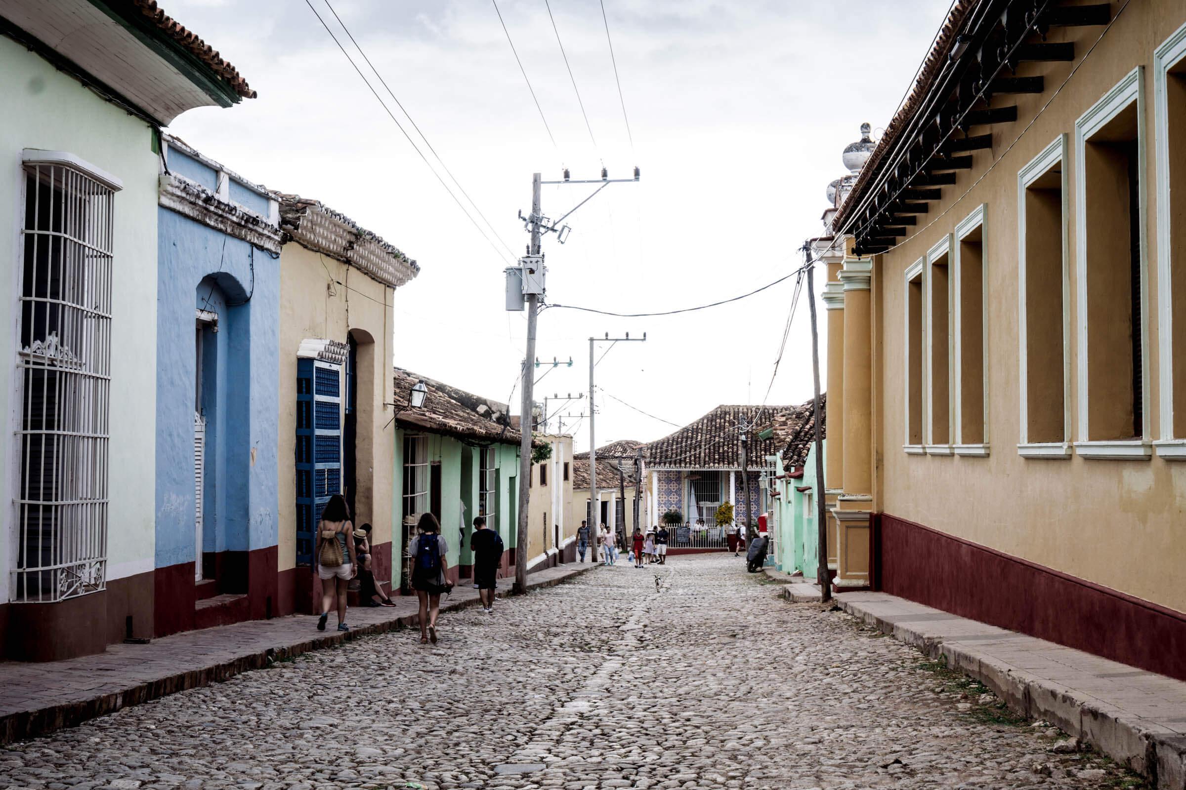 Trinidad Kuba Bunte Häuser