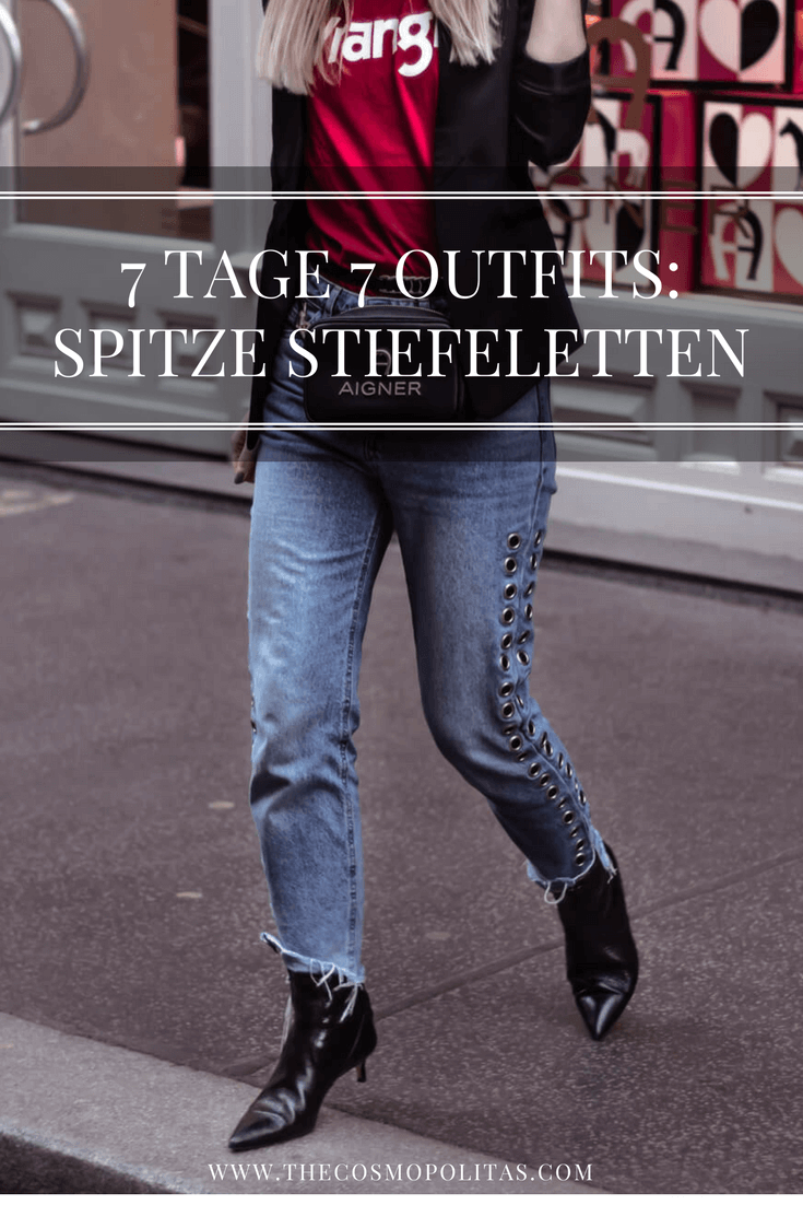 7 Tage 7 Outfits: Spitze Stiefeletten