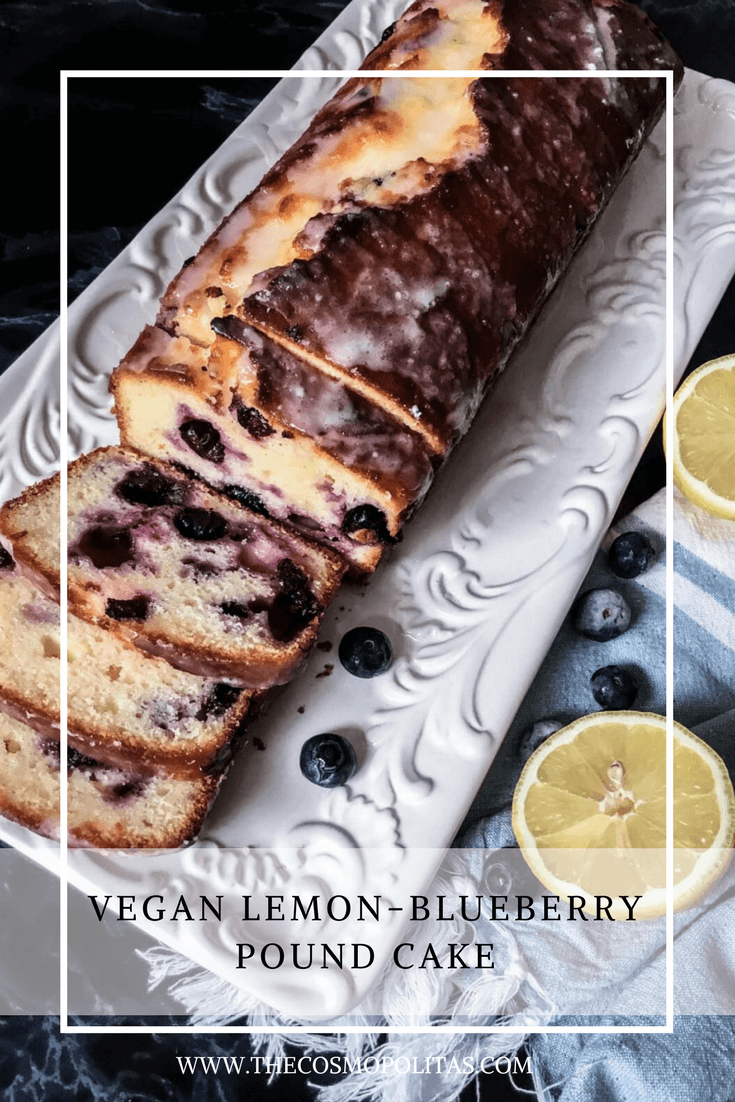 Vegan Lemon-Blueberry Pound Cake