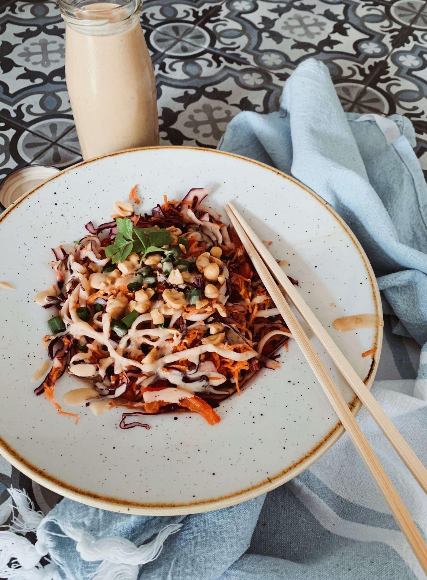 Asiatischer Nudelsalat Vegan Rezept