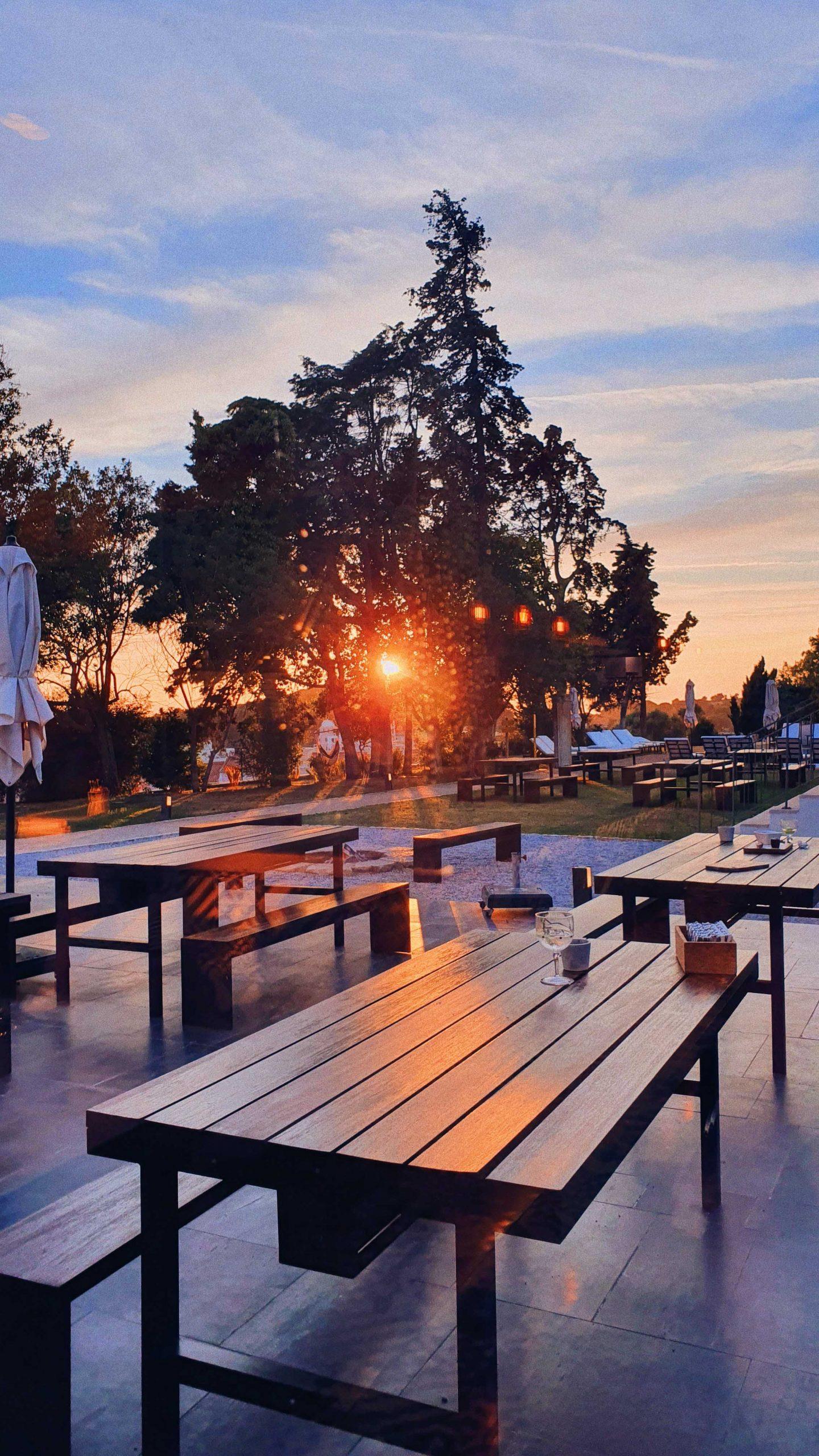 Sonnenuntergand Santiago de Cacem