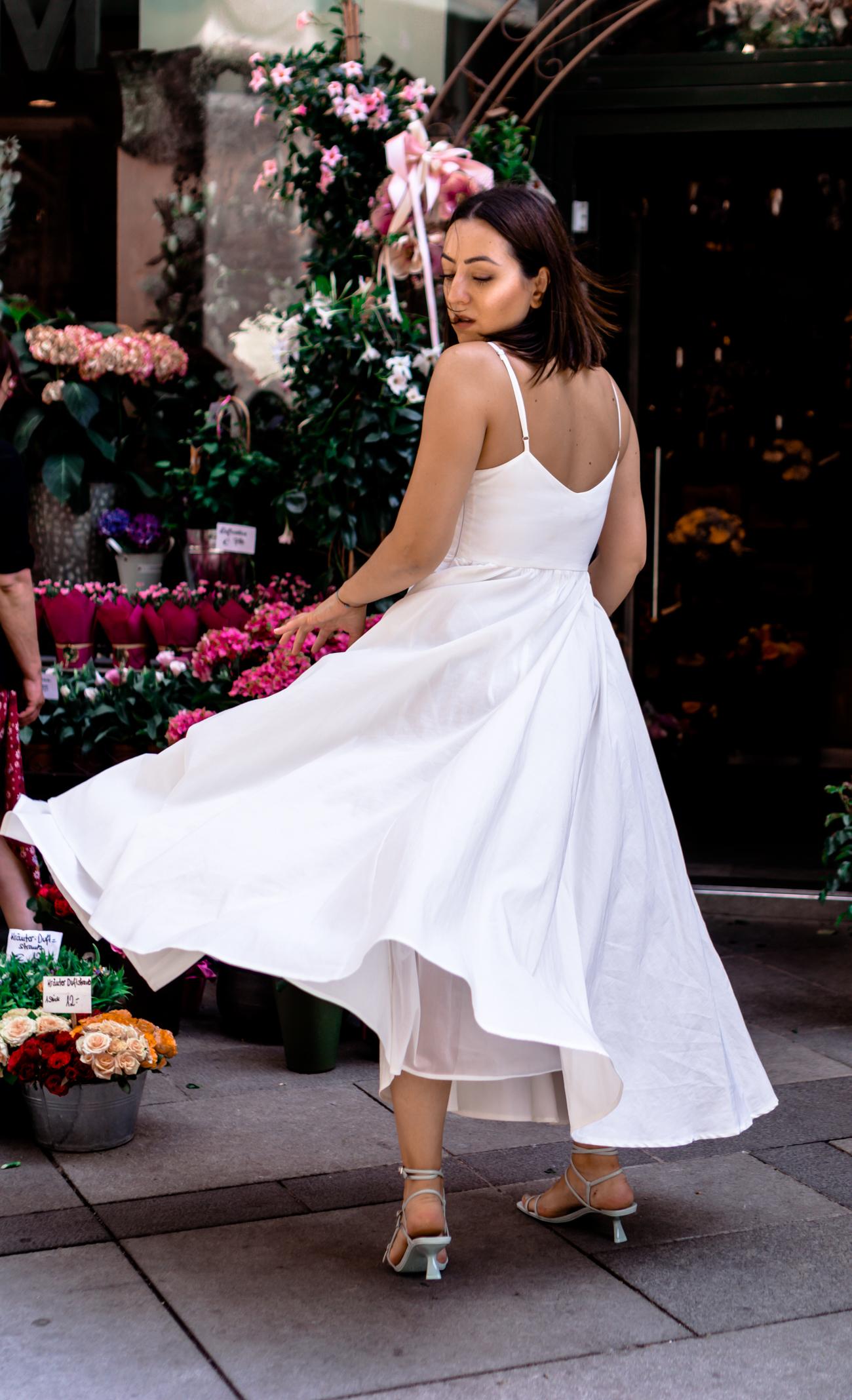 Wie lässt sich ein weißes Kleid stylen?