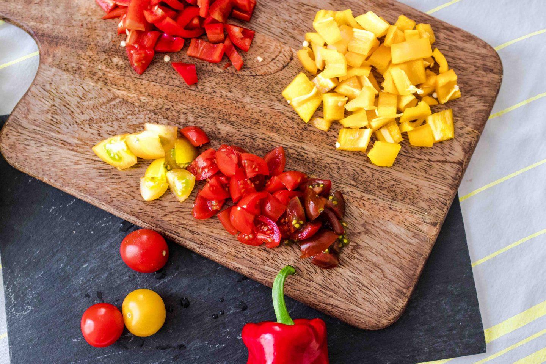 Salat mit Proteinen schnell