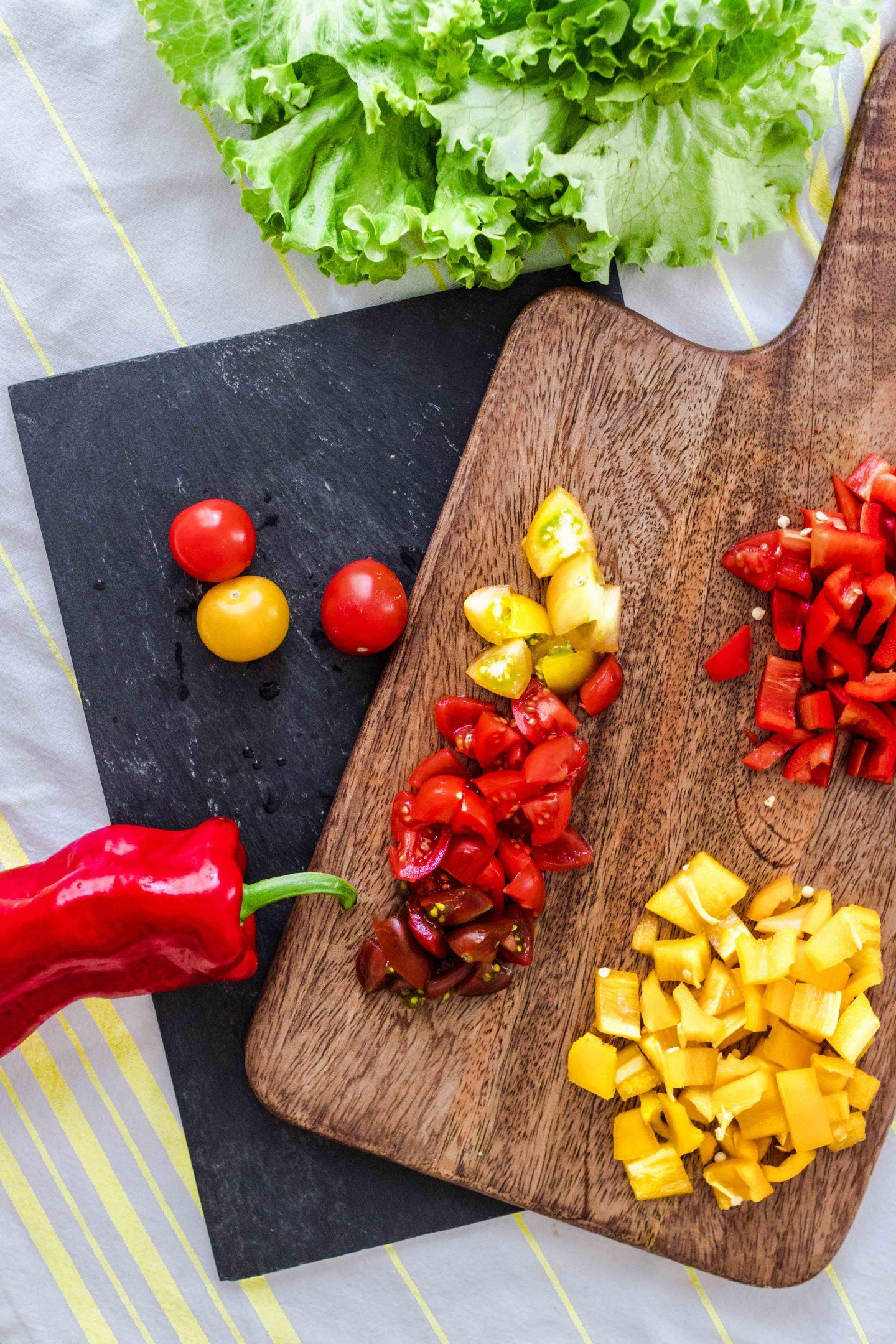 Einfacher Salat zum Mitnehmen