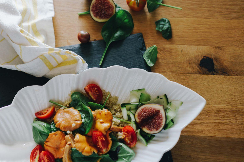 Eierschwammerlsalat mit Quinoa